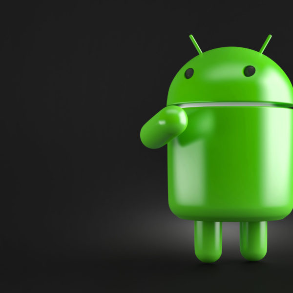 Thoughtful android robot. 3D illustration. Contains clipping path